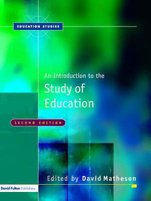 An Introduction to the Study of Education by Taylor & Francis Ltd (Paperback,...