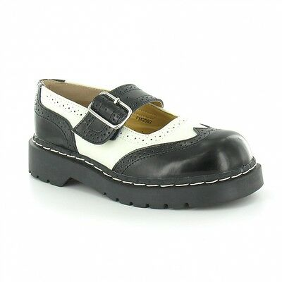 Shoes Black /& White Leather Brogue Anarchic Mary Janes T.U.K