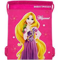 Disney Princess Rapunzel Tangled Hot Pink Drawstring Bag School Backpack