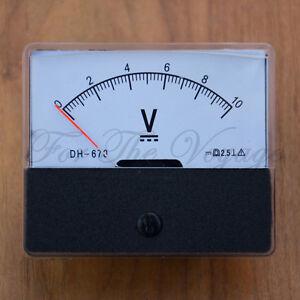0-10V-DC-Voltmeter-Analogue-Panel-Volt-Meter-Analog-NEW