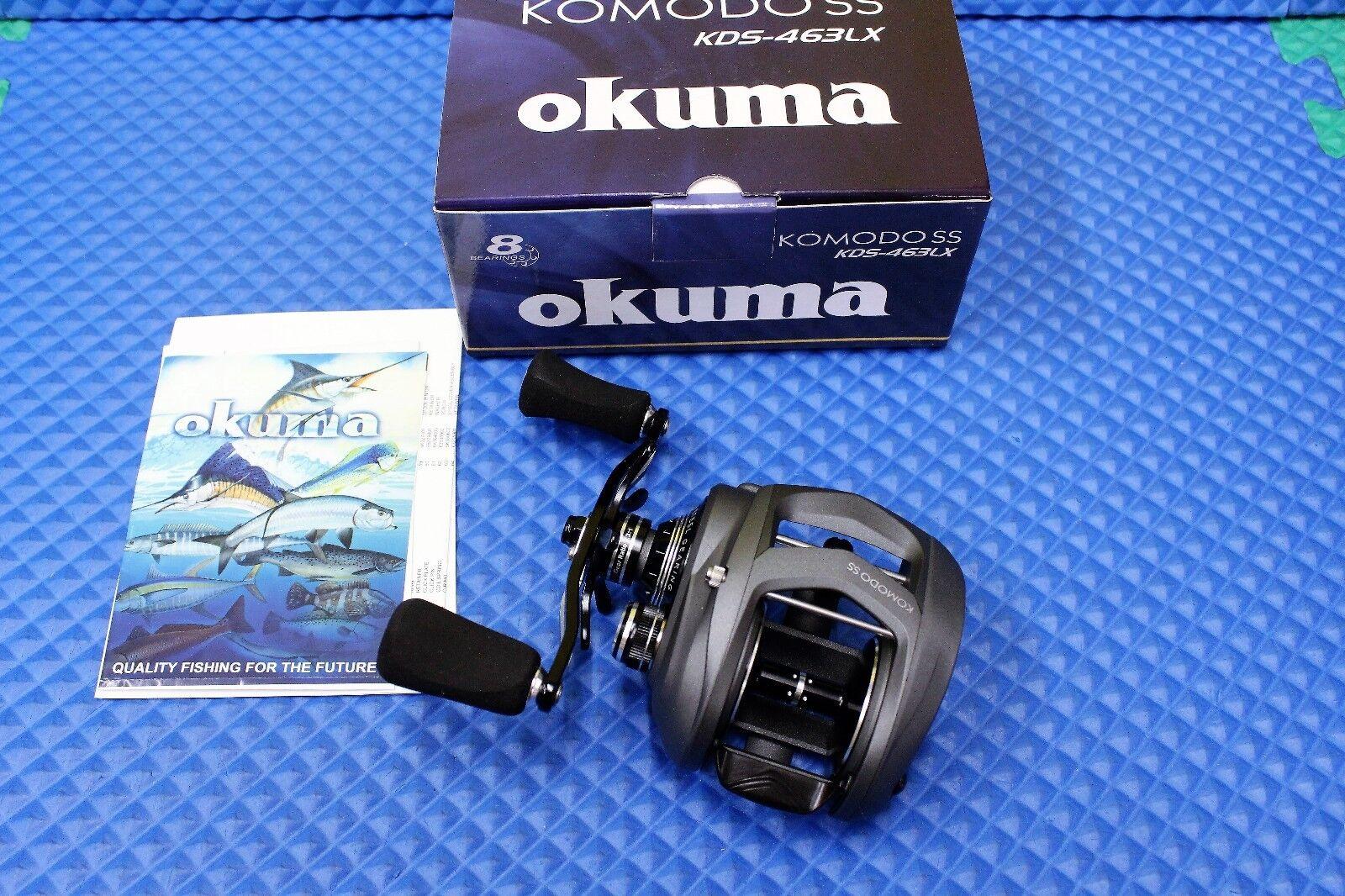Okuma Komodo SS Left Hand Retrieve Low Profile Baitcast Reel KDS-463LX