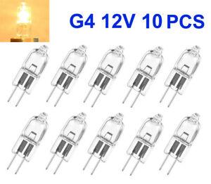 10x Halogen-Lampe G4 12V 10W//20W Stiftsockel leuchtmittel JC Clear Deutsche Post