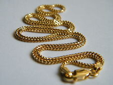 "18ct Yellow Gold Franco Chain Necklace 18""/45cm x 1.4mm thick Top Quality 18K"