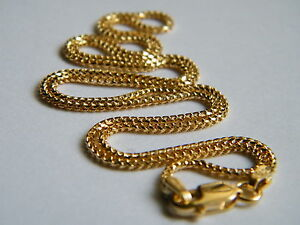 18ct-Yellow-Gold-Franco-Chain-Necklace-16-034-1-4mm-Thick-5-Grams-Top-Quality-18K