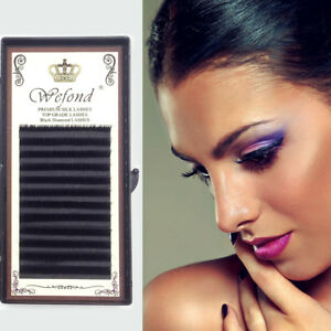 Details about 0 10 D Curl Fake Eye Lashes Extension Mink Eyelashes  Individual Eyelash UK W5Y3