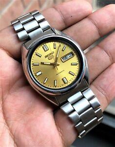 Seiko-1994-SNXS81-Golden-Datejust-Dial-Retro-Vintage-7009-Hodinkee-Mint-RARE-SS