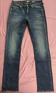 7 FOR ALL MANKIND Homme Bleu Sexy soundtrack Denim Jeans taille 32 neuf avec étiquettes