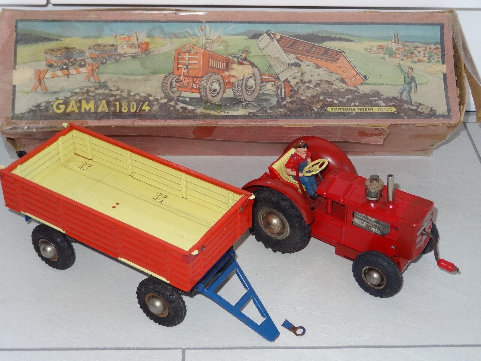 Gama Alemania Occidental Años 50 Tractor y Remolque - 1 En Caja