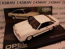 VOITURE 1/43 IXO eaglemoss OPEL : OPEL MANTA GT/E 1982 blanche