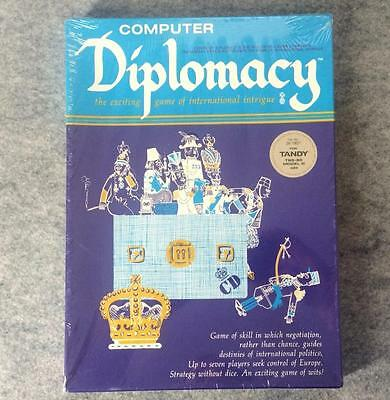 Sealed Computer Diplomacy game by Avalon Hill for Tandy TRS-80