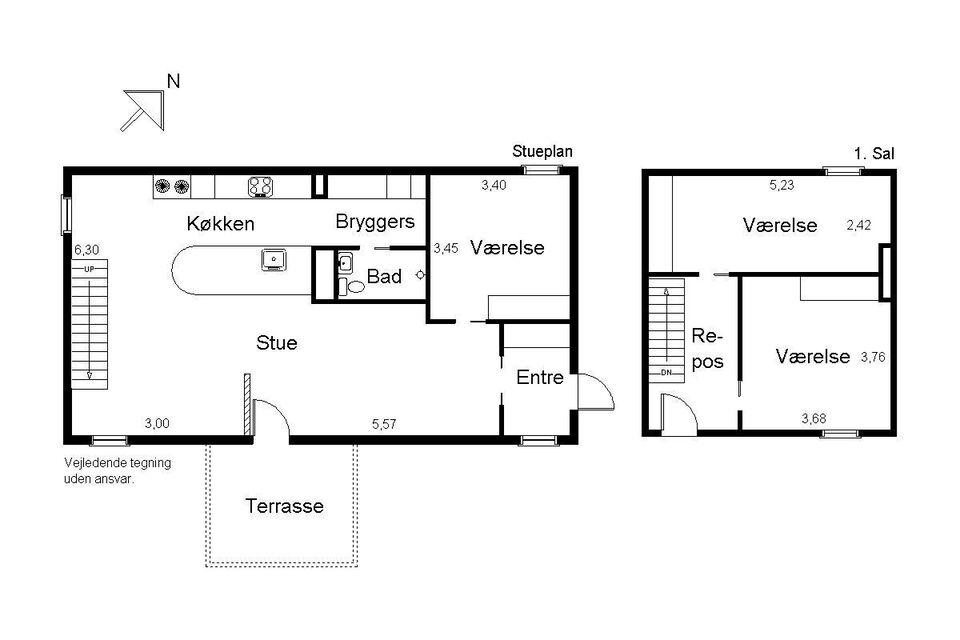 4600 vær. 4 lejlighed, m2 131, Blommehaven