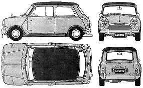 Clásico Austin Rover Mini N//S Delantero Tubo de puente