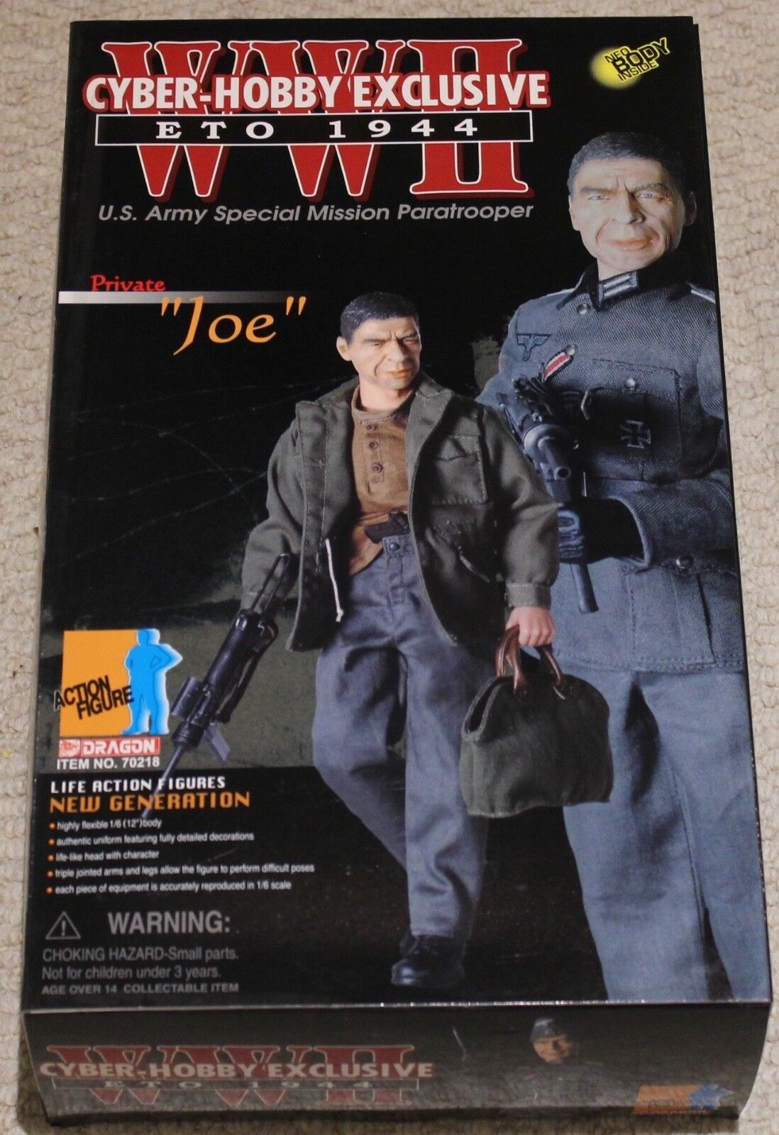 Dragon action figure 1 6 ww11 german us para joe 12'' boxed did cyber hot toy