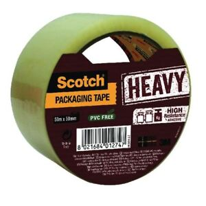 Scotch Heavy Duty 50mmx50m Clear Packaging Tape HV.5050.S.B [3M01274]-afficher le titre d`origine UNoEzRpG-07135453-414293927