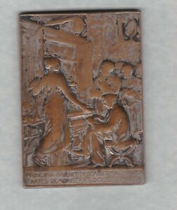 19TH siècle France argent sur bronze Conservatoire des Arts Médaille Occasion