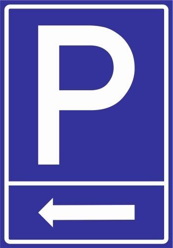 Parking Signs Sticker Alu Dibond Paf0056 ARROW on the Left PVC