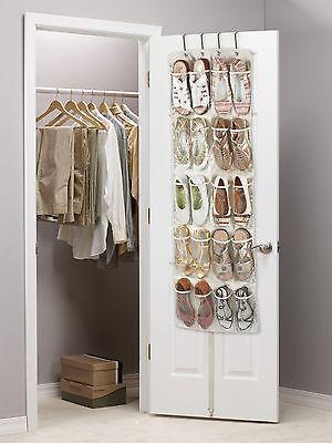 Heavy Duty 20 bolsillo sobre la puerta de zapato colgante Organizador 10 Pares 135 X 53 X 7cm