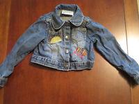 Gymboree Crazy 8 Girl Embroidered Sunshine Denim Blue Jean Jacket 12-24 mo EUC