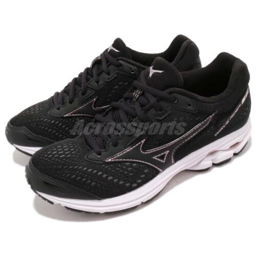 Mizuno Wave Rider 22 Wide Black Pink Womens Running Shoes J1GD1832-09