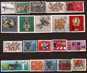 GERMANIA-Lot-de-20-francobolli-timbrati-soggetti-vari-87T6