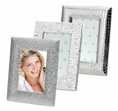Bilderrahmen Silber Fotorahmen Rahmen Foto Bild versilbert 10x15 13x18 cm neu