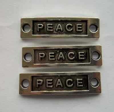 "20 pcs Tibetan silver ""peace "" connector 35x9mm"