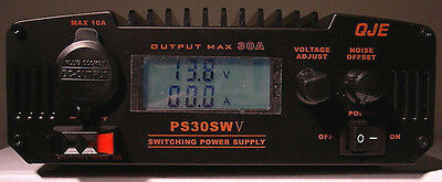 NEW QJE PS30SWV 30 Amp Switching Power Supply with Digital Volt/Amp Meter