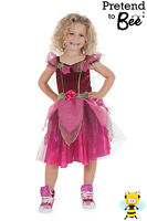 Toddler Girls Deluxe Pink Flower Fairy Fancy Dress Costume + Wings Toddler Age 2