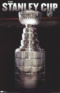 NHL-STANLEY-CUP-IN-FRONT-OF-GOAL-NET-22x34-POSTER-National-Hockey-League