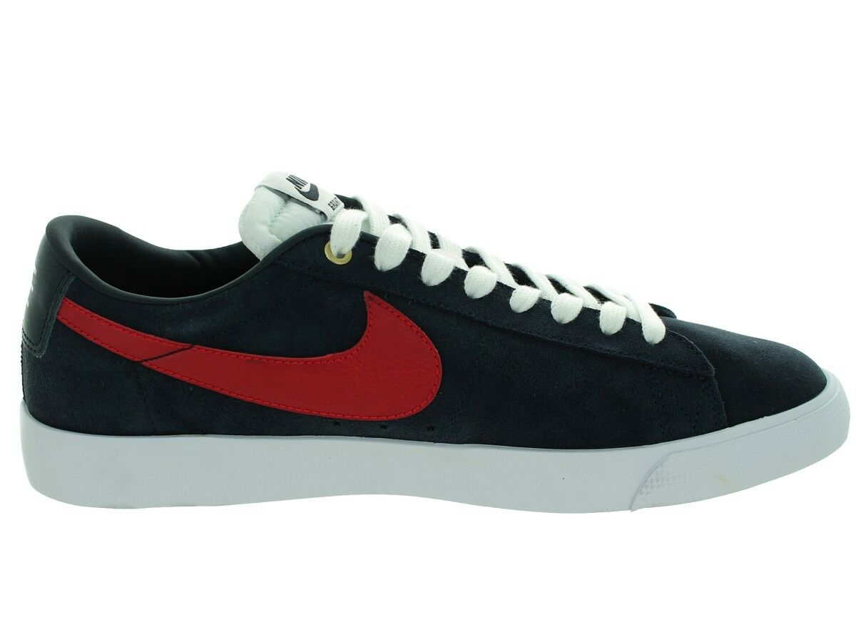 Nike BLAZER LOW GT Dark Obsidian Gym Red White Discounted (563) Men's shoes