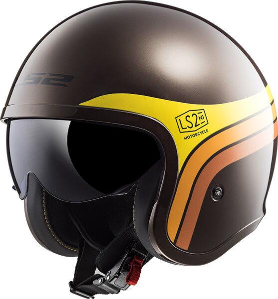 Ls2 Helmet Bike Jet Of599 Spitfire Sunrise Brown Xs For Sale Online