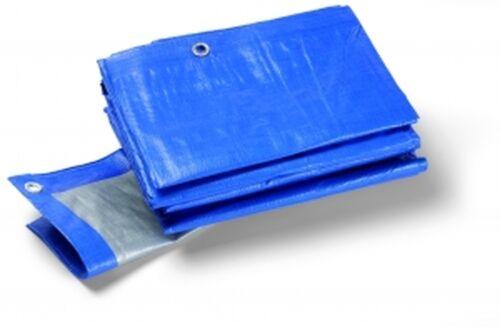 ca Schuller Schutzplane mit Ösen 180g 1,5 x 6m blau//grau