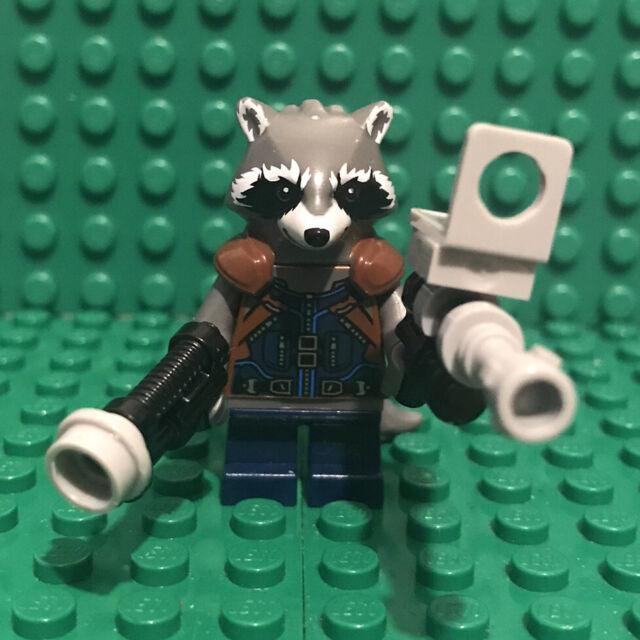 LEGO Rocket Racoon Dark Blue minifigure Marvel GOTG Vol.2 sh384 76079 mini fig