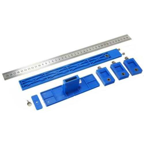 Detachable Punch Locator Drill Guide Woodworking Drilling Dowelling Hole Saw Jig