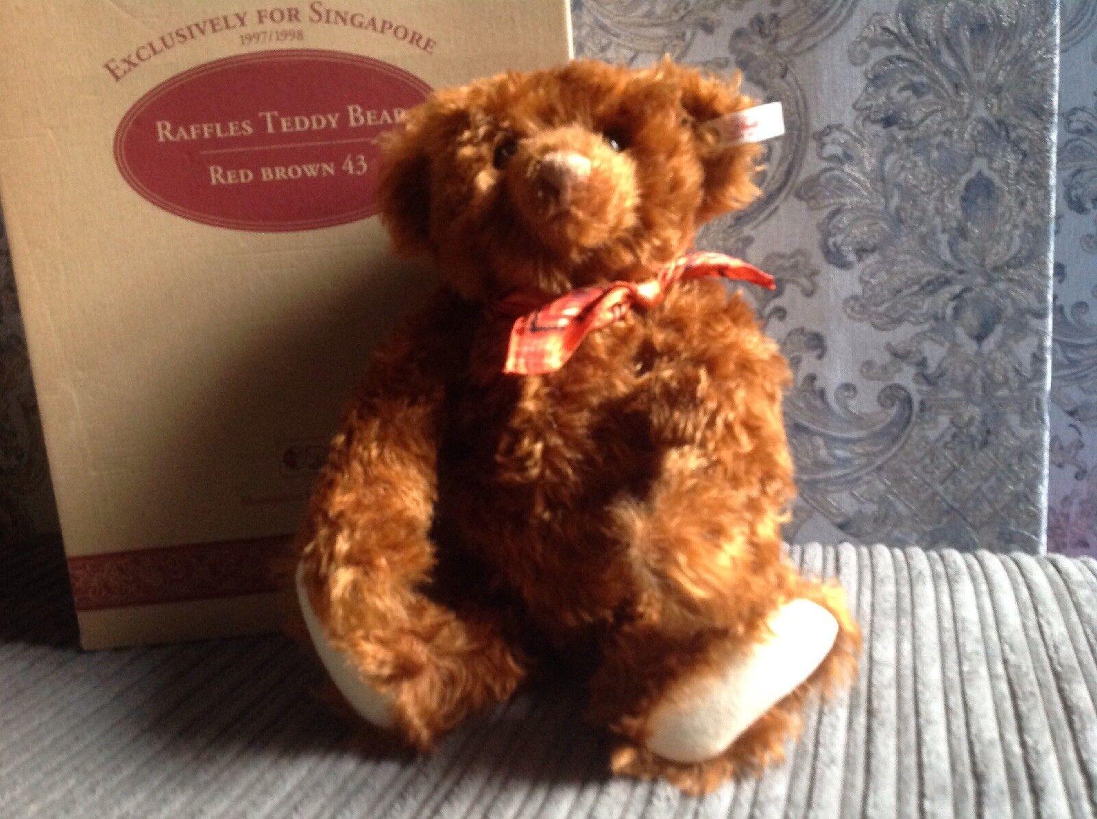 Gorgeous Steiff Teddy Bear, Raffles Singapore Bear.