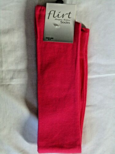 Over Knee Thigh High Socks Blue Pink Or Red UK 4-7 M6
