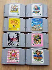 Lot de 8 jeux Nintendo 64 japonais
