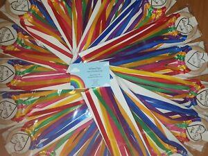 Sensory-Ribbon-Wooden-Ring-7cm-Rainbow-Colours-100cm-long-amp-1cm-wide-Ribbon