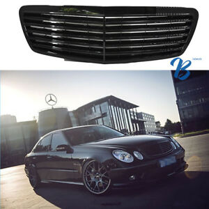 Details about BLACK Grille Grill For Mercedes Benz W211 E320 E350 E500 E55  AMG 2002-2006 US