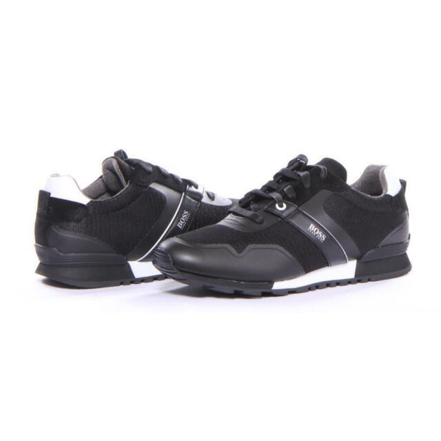 2d7c278343b7 Men Hugo Boss Shoes Parkour_Runn_meth Sneakers Black Size 12