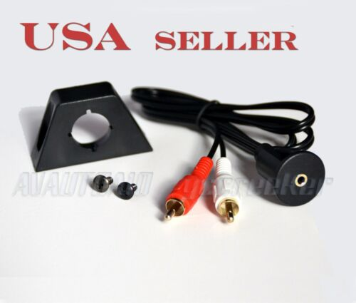 2RCA to 3.5MM Port Flush Mount Kit for Car Dashboard Bicycle Motorcycle 2545