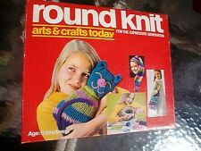 ROUND KNIT Hasbro Toy 1971 Arts Craft Today vintage Crochet Emboider Yarn Beads