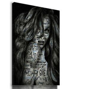 PAINTING DRAWING WOMAN SEXY VISUAL ART PRINT Canvas Wall Picture  R32 MATAGA