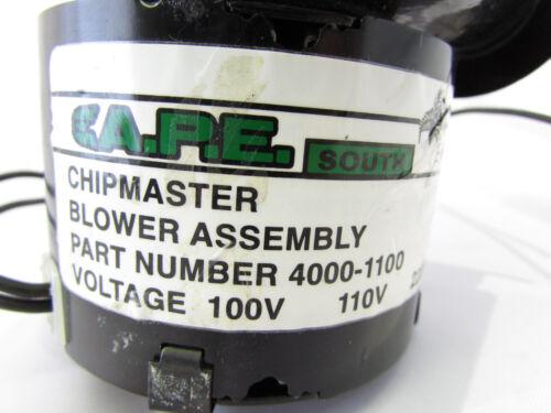 EA.P.E SOUTH 4000-1100 CHIPMASTER BLOWER ASSEMBLY 110V  **NNB**
