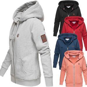 Details zu Marikoo Damen Sweater Hoodie Sweatjacke Pullover Kordel Kapuze Pulli NEU Tamikoo