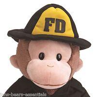 Gund - Curious George Fireman - 12