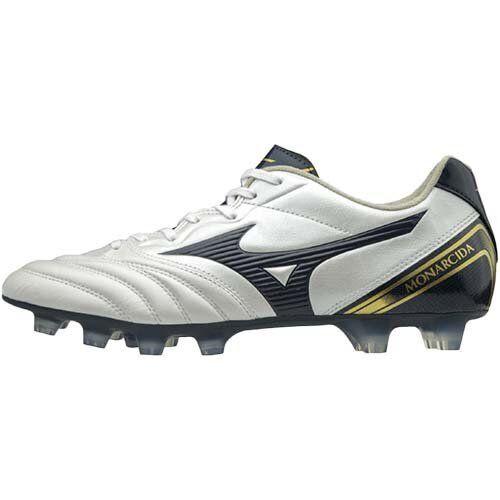 MIZUNO Soccer scarpe MONARCIDA 2 WIDE P1GA1829 bianca Navy oro US10.528.5cm