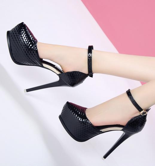 Donna Sexy Ankle Strap High Heels Platform Stilettos Pumps Pumps Pumps Party Club Shoes B779 082874