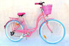 28 Zoll Stadtrad Cityrad Citybike Damen  6 Gänge im Retro-Stil PINK