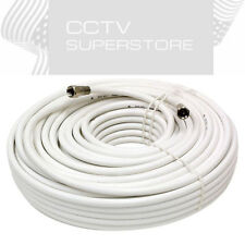 50 FT Gold Plated Coaxial Digital Cable for Satellite VCR TV Video White